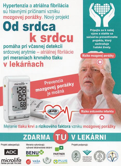 Od srdca k srdcu, záchrana životov prostredníctvom detekcie atriálnej fibrilácie.