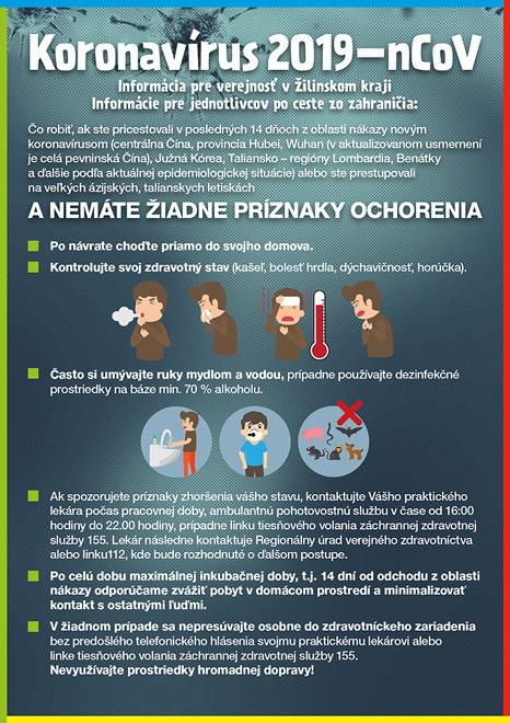Leták, Koronavirus 2019 ncov